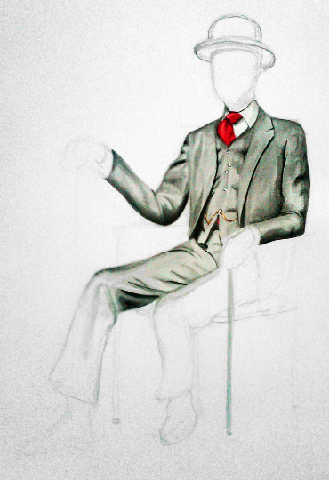 Color Suit Watercolor Print