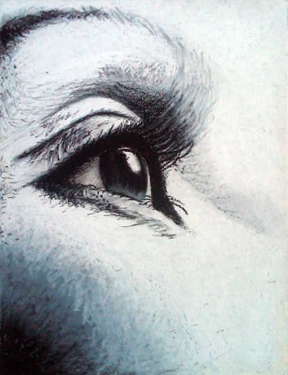 Eye Oil Pastel Print