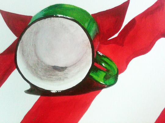 Green Mug Painting Print