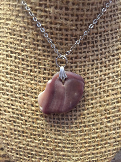 Attractive Lavender and Cream Stone Pendant